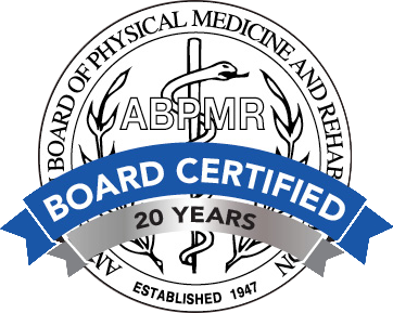 ABPMR Board Certified - 20 Years